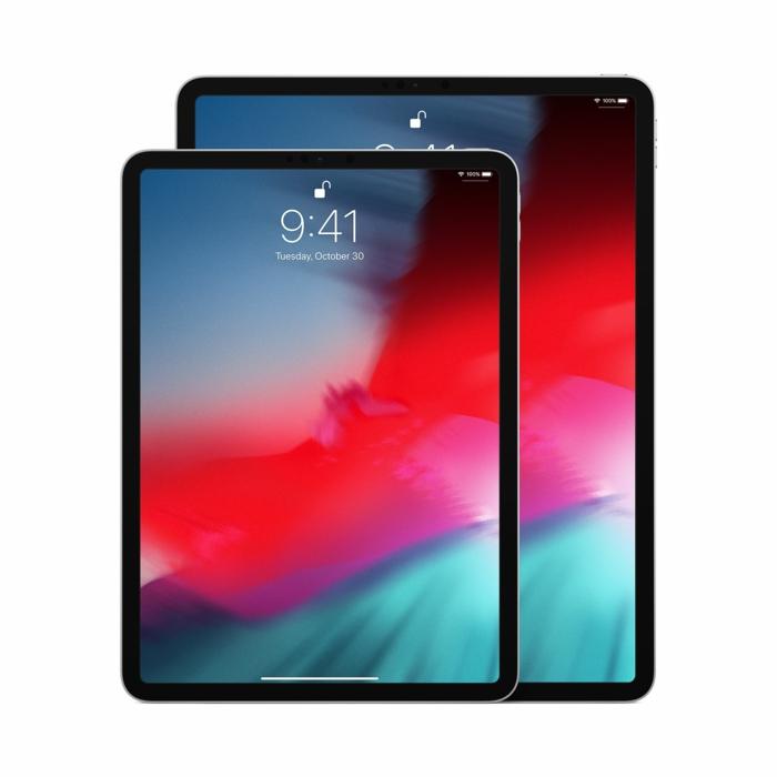 Sie sehen hier den Unterschied in der Größe zwischen beiden Modellen iPad,