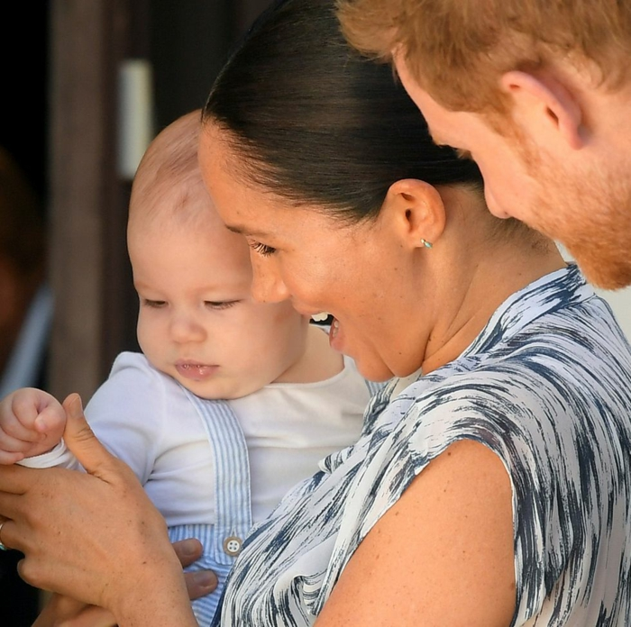 die kleine Familie von Herzog und Herzogin von Sussex und ihr Sohn Master Archie