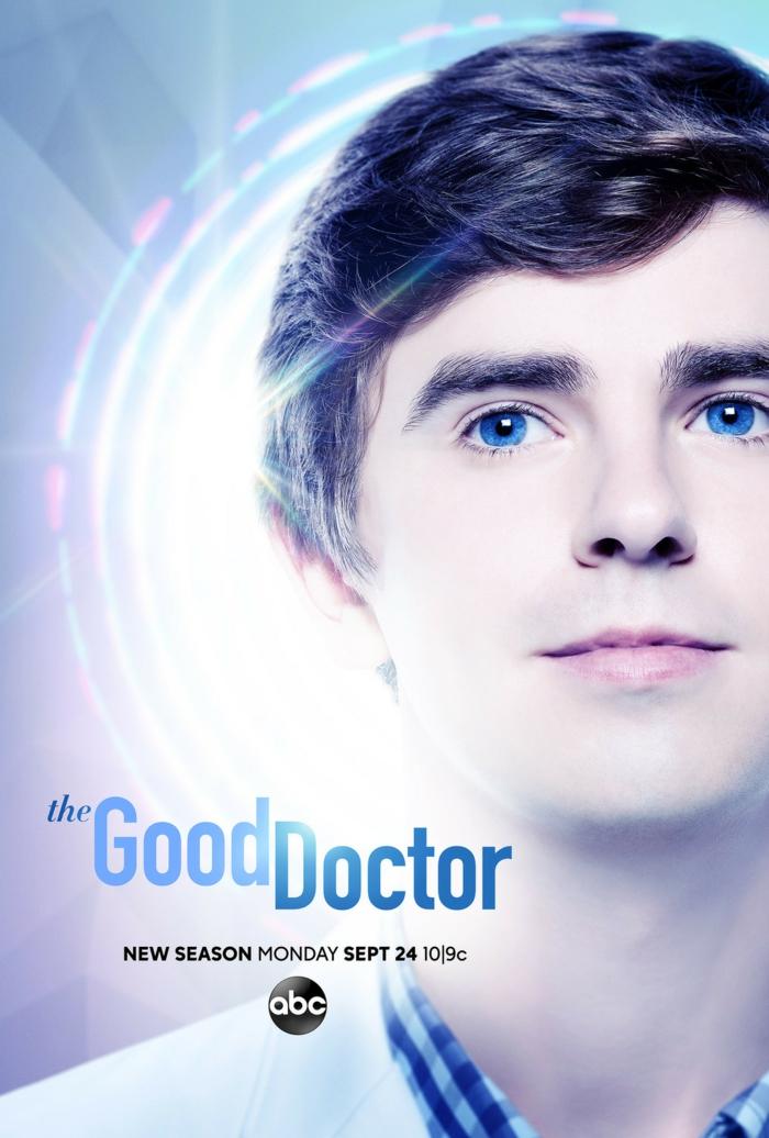 ein Poster von der Serie The Good Doctor, dritte Staffel, wo Robert Seam Leonard spielt