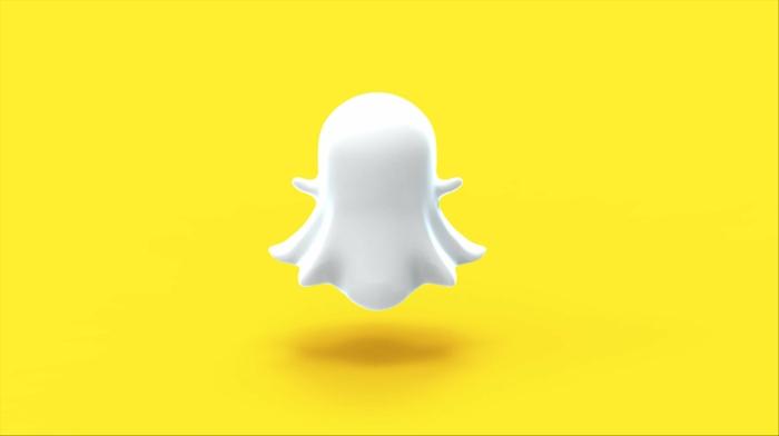 ein Geist, gelber Hintergrund, 3D Selfie, der Geist hat einem Schatten