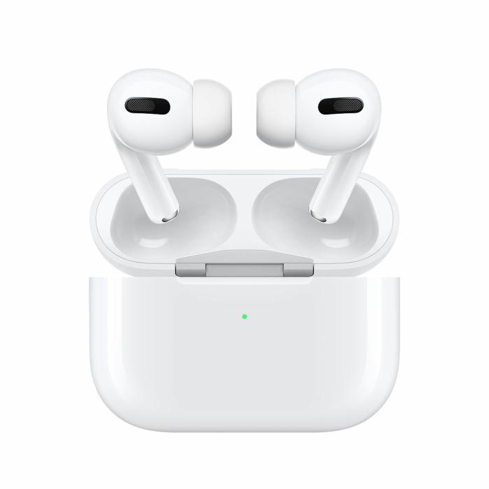 AirPods Pro, weißes Transportcase, ein schönes Bild von dem Kopfhörer zum Kaufen
