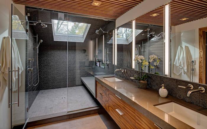 modernes badezimmer mit duschkabine