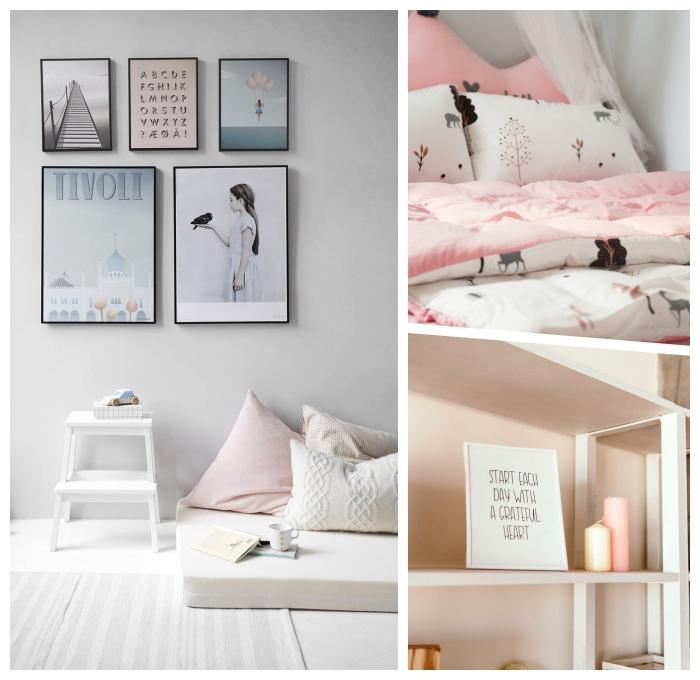 cozy deko ideen, wohnungsdeko in rosa und grau, gemütliche wohnungsdeko, skandinavisch