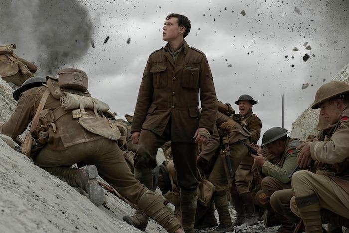 der one shot film 1917 von dem regisseur sam mendes, viele soldaten während des ersten weltkriegs george mackay