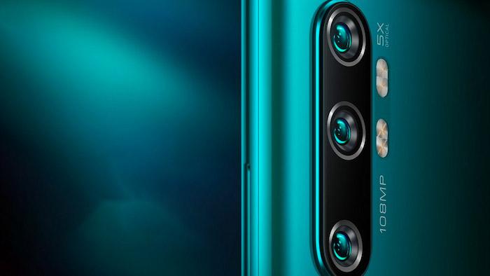 ein großes blaues smartphone mit fünf 108 mp kameras, das neue Xiaomi Mi CC9 Pro von dem chinesischen Hersteller Xiaomi