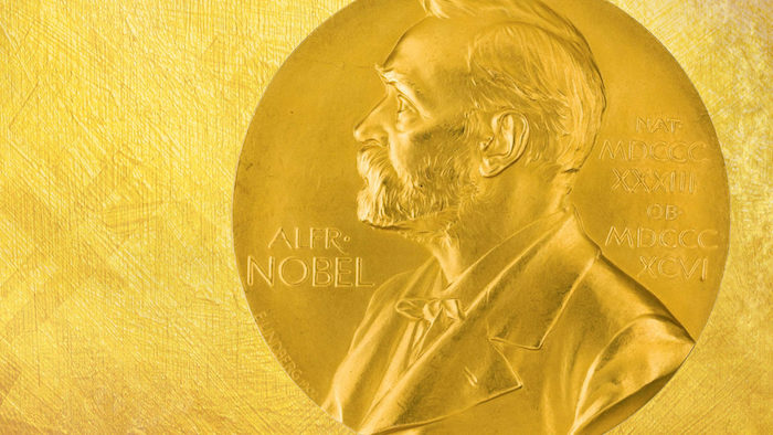 ein mann mit goldenem bart, der nobel preis für chemie