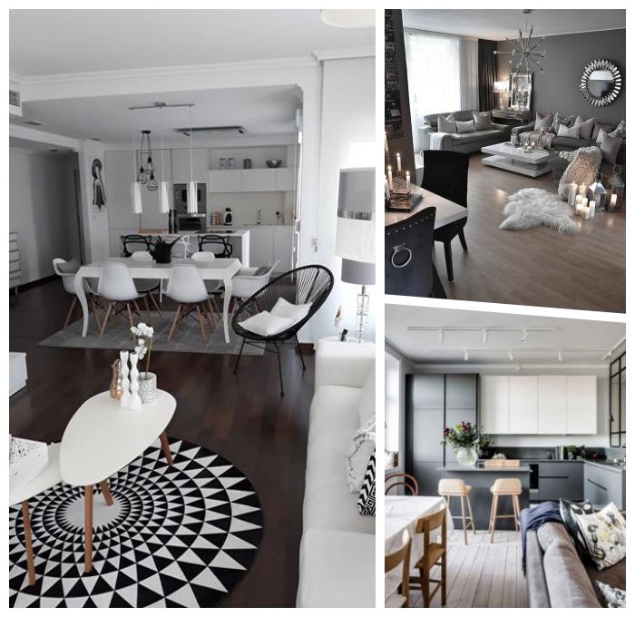 einrichtungsideen wohnzimmer, wohnzimmergestaltung in grau, wohnung einrichten