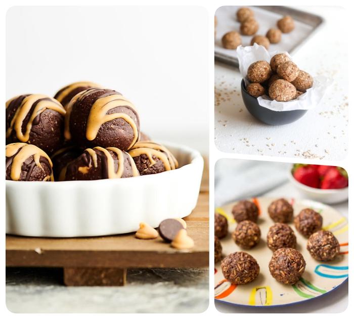 energie balls selber machen, die besten rezepte, energiekugeln mit kakao und erdnussbutter