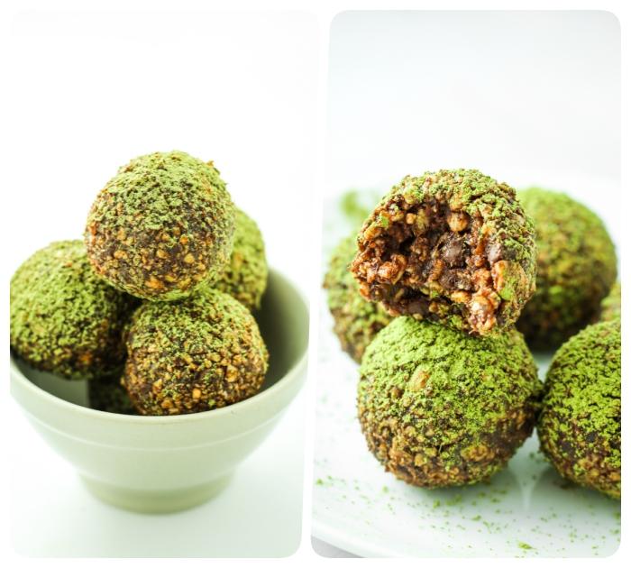 energiekugeln rezept mit nüssen und datteln, proteinkugeln selber machen