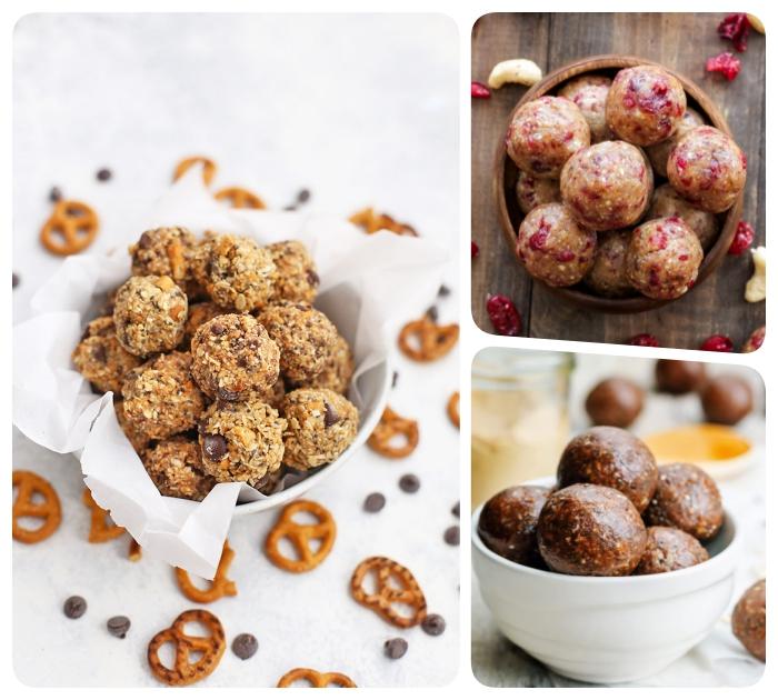 energy balls rezept, einfache und schnelle eiweiß rezepte, proteinbällchen ideen