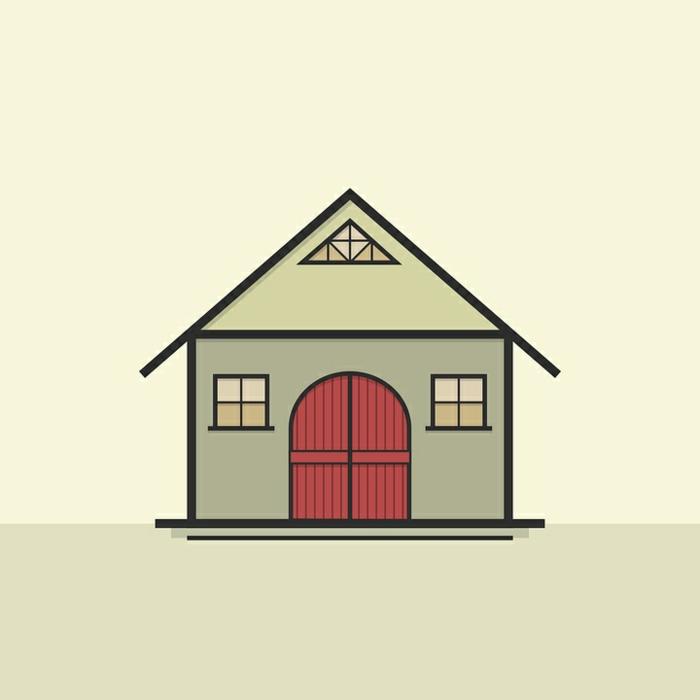 ein Häuschen, ein Plan von Häuschen mit Flachdach Abdichtung