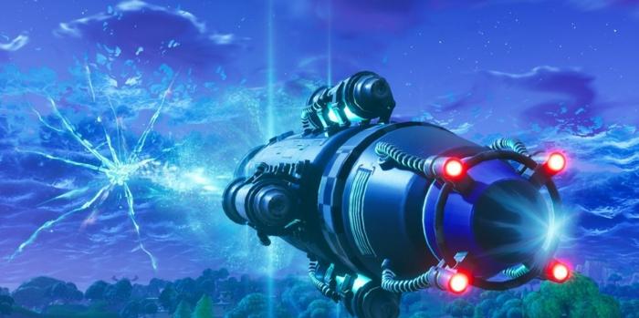 die Bombe bracht das Apokalypse von der Welt des Spiels, Fortnite