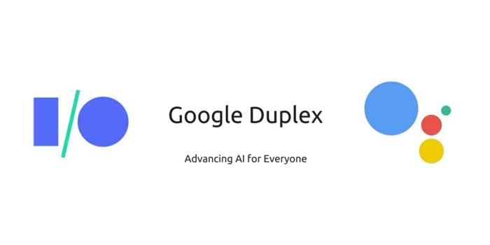 das Logo von Google Duplex mit dem Logo, schon ist es möglich Kinotickets dadurch zu buchen