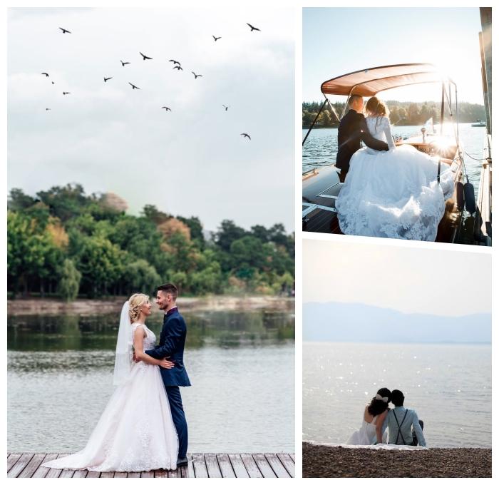 heiraten am see, die besten hochzeitsfotos, braut und bräutigam, hochzeit planen tipps