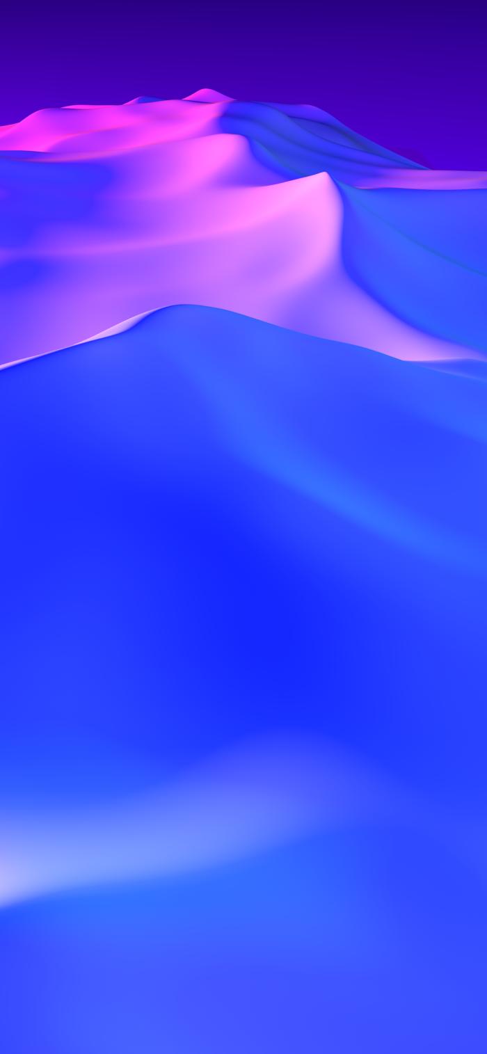 hintergrundbilder iphone x, 3d wallpaper für handy in lila und blau, schnee, spitzen