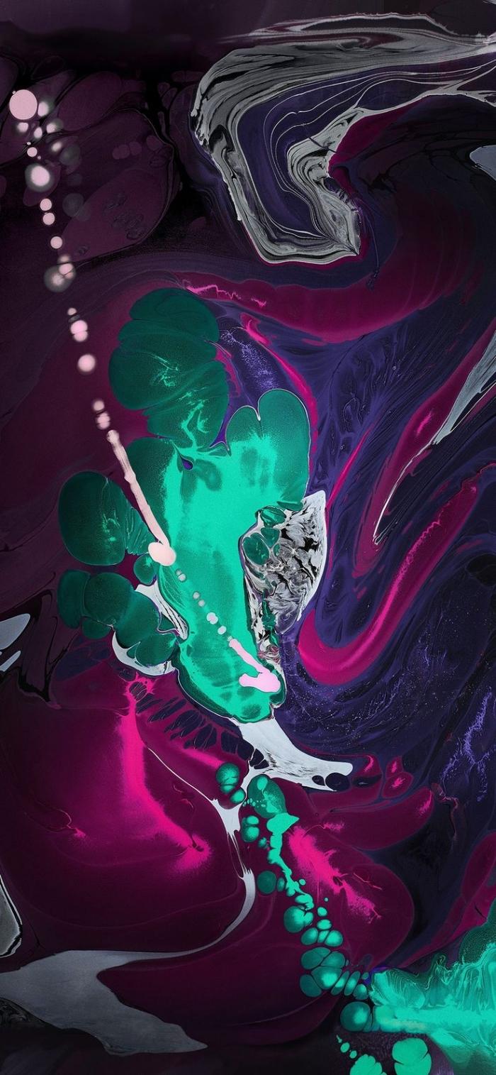 hintergrundbilder iphone x, abstraktes wallpaper, geschmolzene farben, frei herunterladen
