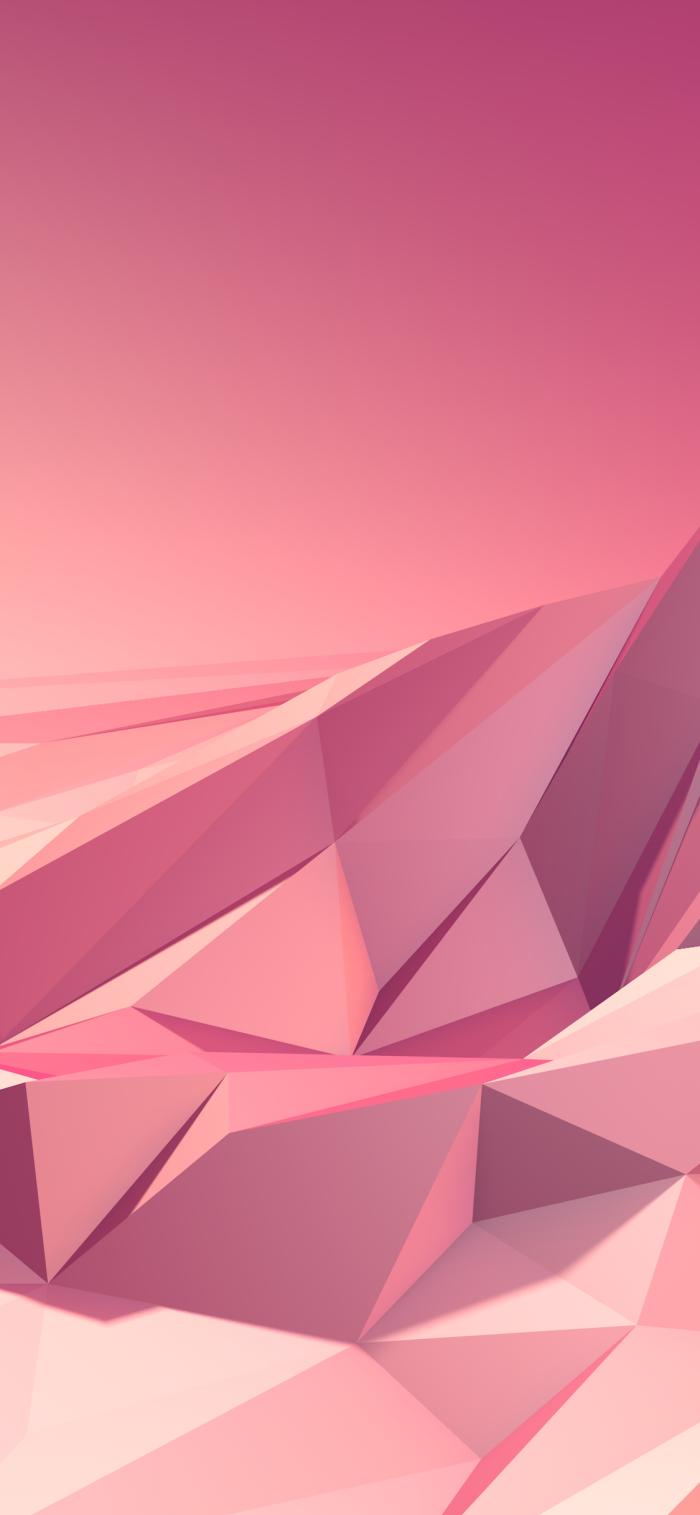 iphone wallpaper, geometrische figuren, handy background in rose gold, 3d