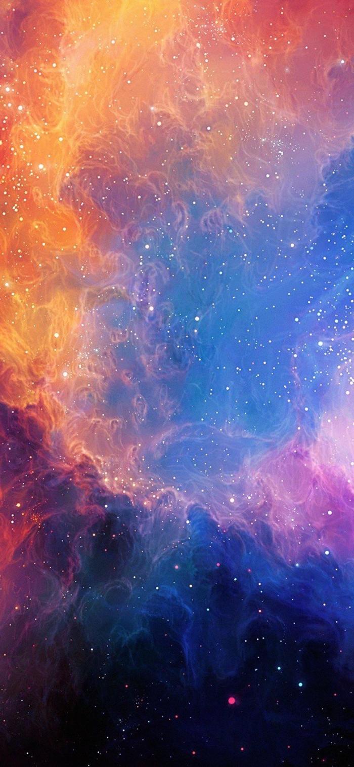 iphone wallpaper, galaxy hintergrundsbild, viele sternen, kosmos, sternenstaub