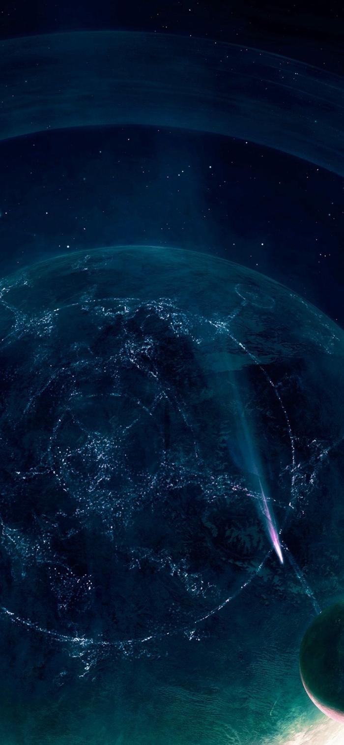 iphone wallpaper hd, hintergrundbild in schwarz und blau, galaxy background frei