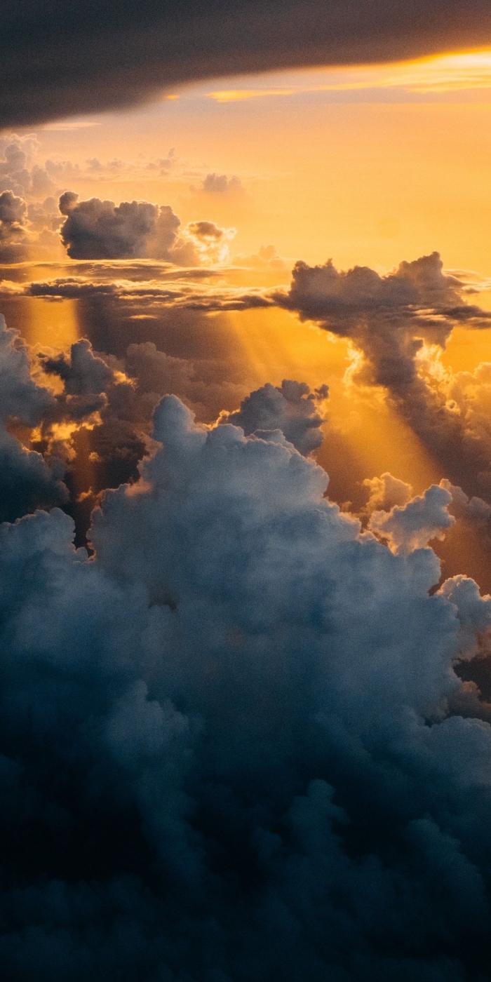 iphone wallpaper hd, himmel mit wolken, hintergrundsbilder für apple, sonnenschein
