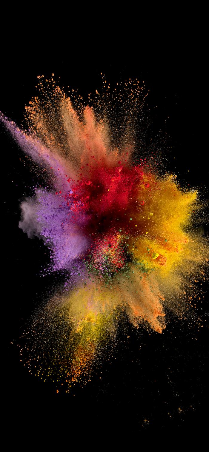 iphone wallpaper, schwarzer hintergrund, bunte farben, 3d background für apple