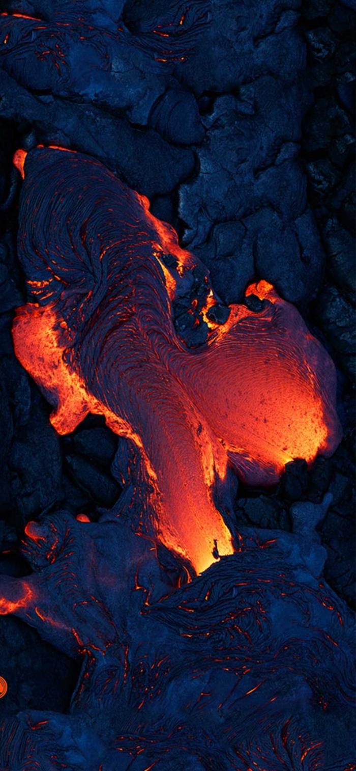iphone x hintergrundbild, vulkan und lava, hintergründe fürs handy die besten ideen