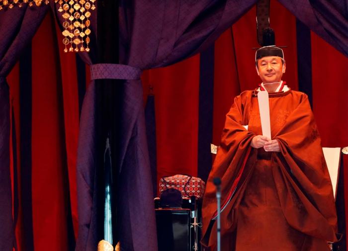 Kaiser von Japan Naruhito folgt alle Ritualen, einen bevollmächtigen Kaiser zu werden