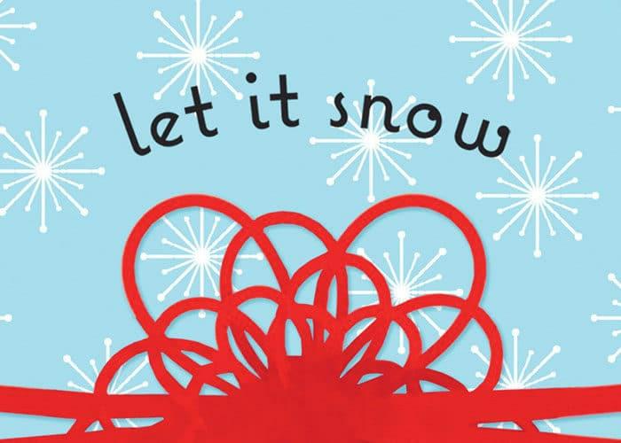 ein Buchumschlag von das Buch Let it snow, das wie Tage wie diese übersetzt wird