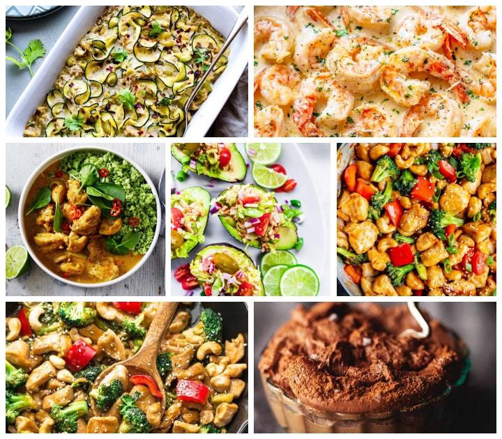 keto rezepte, die bestne ideen, avocados gefüllt mit gemüse und hackfleisch, hühnerfleisch mit brokkoli und paprika