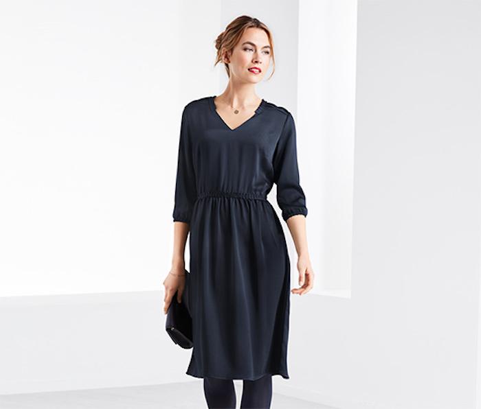 Schwarzes Kleid in A-Linie, Kleider-Trends für Herbst/Winter 2019