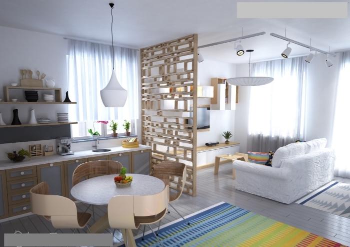 küche esszimmer wohnzimmer in einem raum, einrichtungsideen für kleine räume, wohnzung einrichten