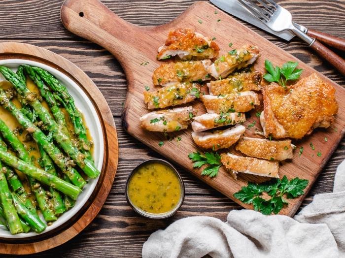 hühnerbrust mit kräutern und spargeln, low carb high fat rezepte mit fleisch