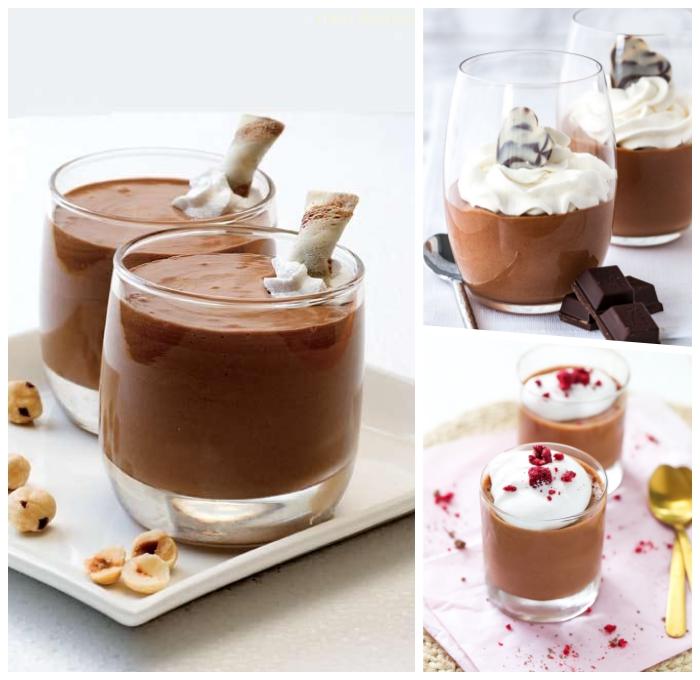 schokomousse mit erdnussbutter, mousse au chocolat rezept einfach, nachtisch im glas