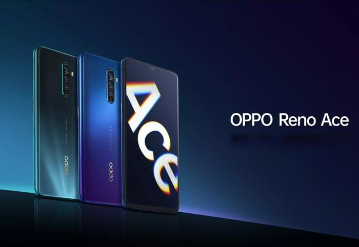 Oppo Smartphone Reno Ace mit einem Ace Handyhülle, blaue Smartphones