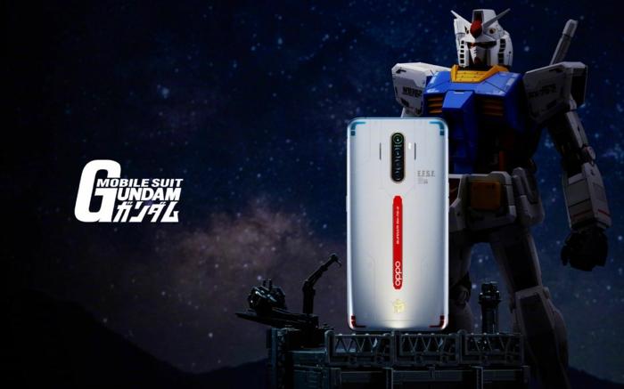 Oppo Smartphone, spezielle Ausgabe für 40 jähriges Jubiläum von Gundam