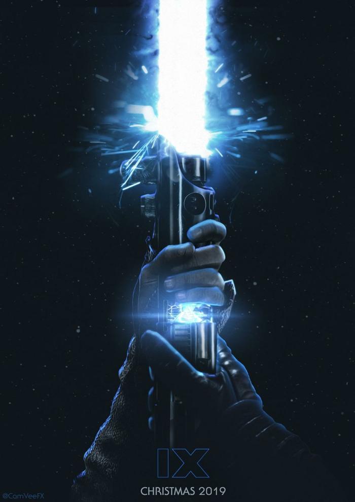 Lichtschwert, zwei Hände, das Ende der Saga, Star Wars: Der Aufstieg Skywalkers
