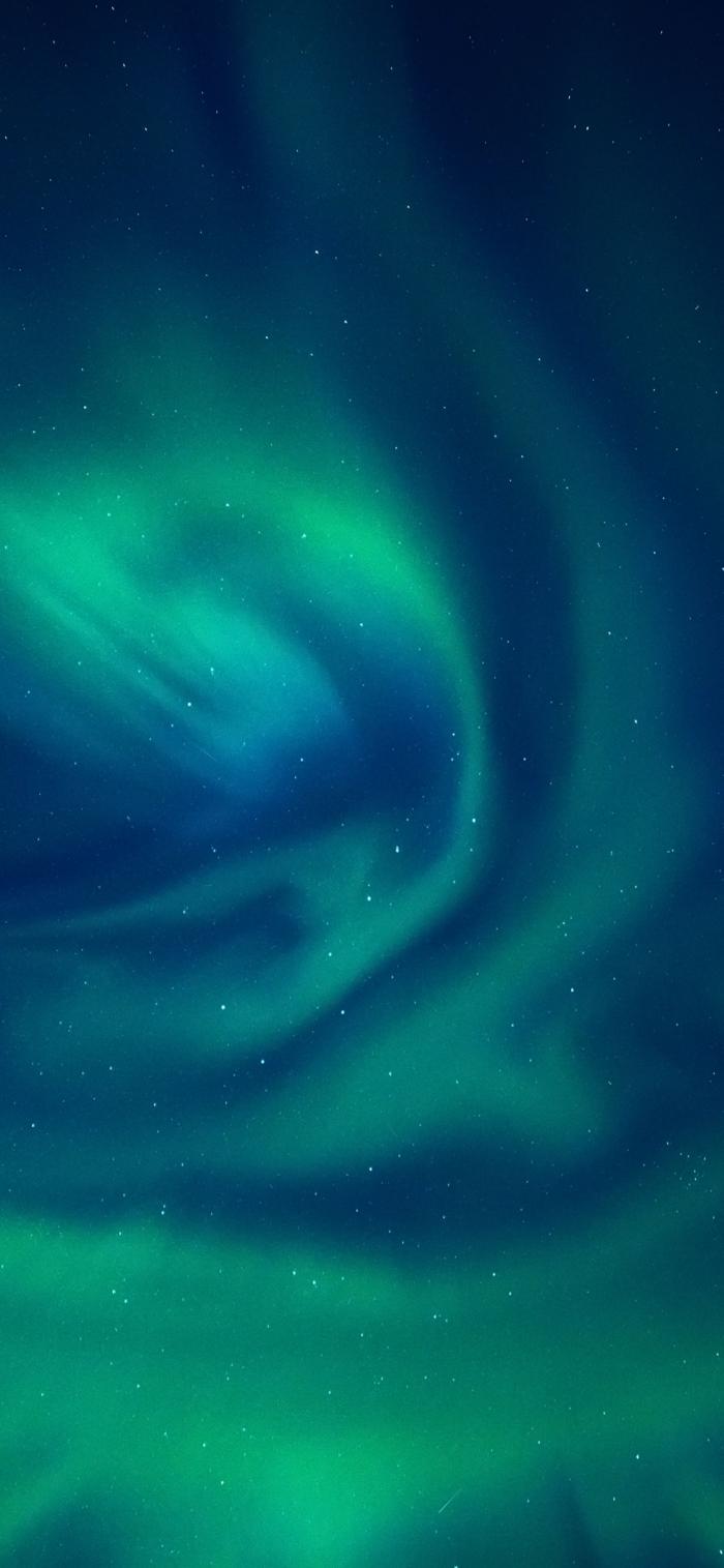 sterne am himmel, grünes licht, wallpaper iphone x, hintergrunbild für apple