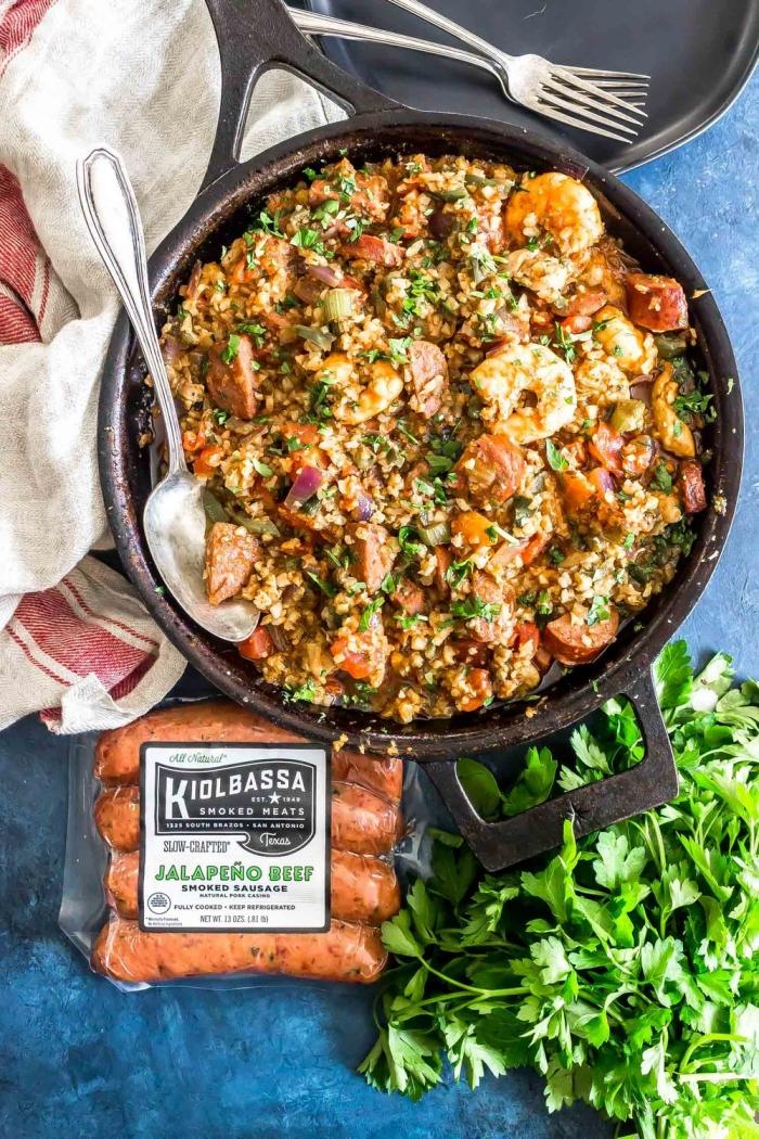 was ist keto diät, garnelen mit quinoa und kiolbassa, mittagessen ideen, ketogen