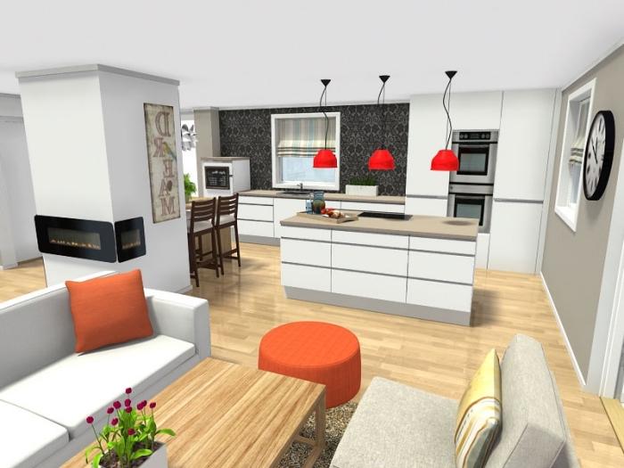 küche gestalten, wohn und eszimmer in einem raum, wohnzimmer einrichten beispiele, einrichtungsplaner