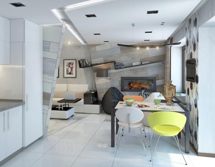 wohnzimmer einrichten beispiele, moderne wohnzimmergestaltung in weiß und grau