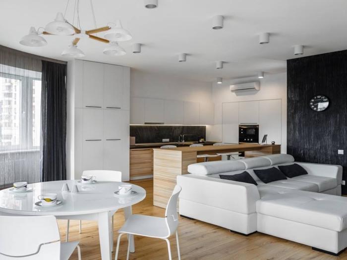 wohnzimmer gestalten tipps, designer möbel, esszimmer und wohnzimmer in einem