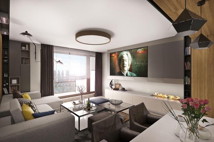 wohnzimmer gestalten tipps, kleiner raum gestaltungsideen, wohnzimmergestaltung in grau