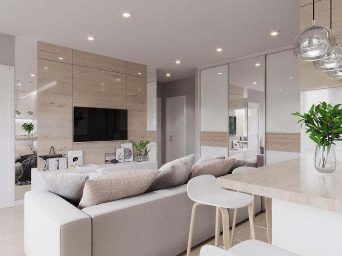 wohnzimmer ideen für kleine räume, einrichtung in hellen farben, wohnzimmerbelcuhtung