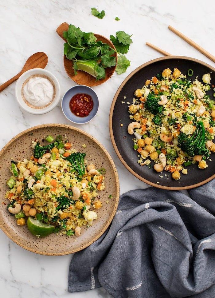 abednessen ideen warm, rezepte unter 30 minuten, gesunder salat mit bohnen und quinia, was kann ich kochen