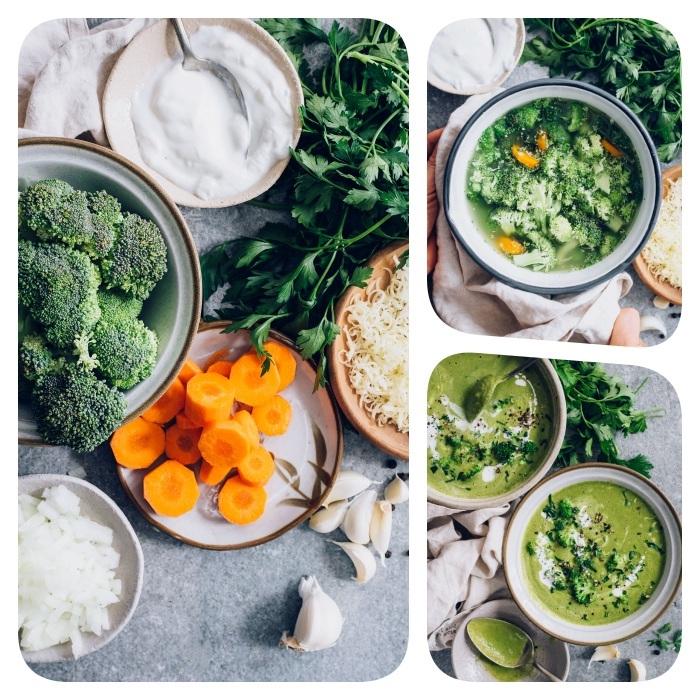 brokkoli suppe, die besten rezepte, gemüsesuppe mit karotten und creme fraiche