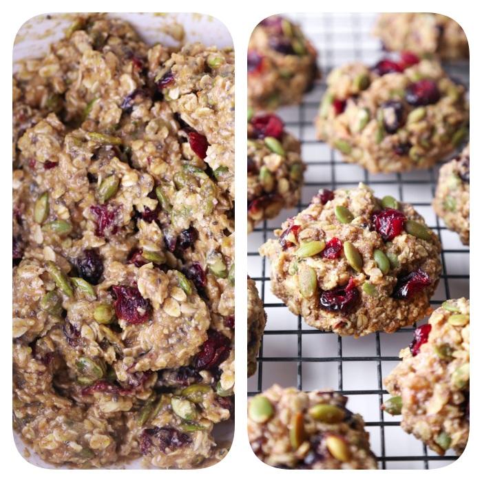 cookies ohne butter selber machen, gesunde kekse mit samen und getrockneten früchten