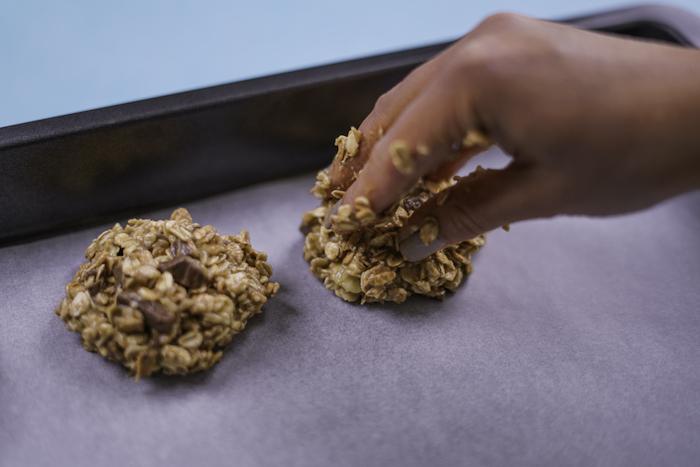 cookies rezept einfach, gesunde kekse mit hafeerflocken zubereitungsweise, hafeeflockenkekse