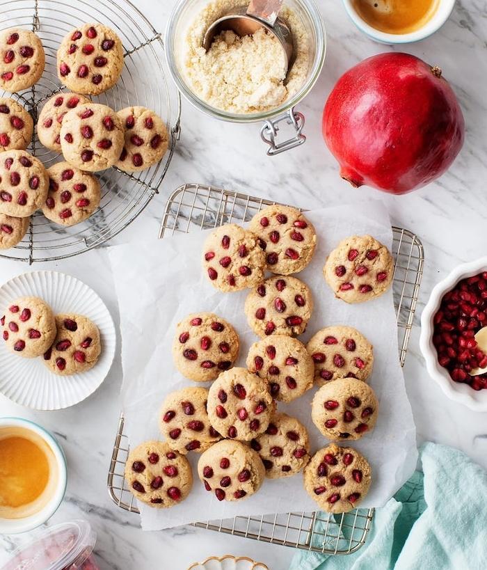 cookies selber machen, die besten rezepte, kekse mit granatapfelsamen zubereitung