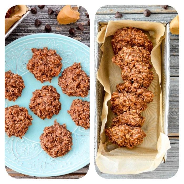 cookies selber machen, selsbtgemachte kekse mit haferflocken und erdnussbutter, gesunde rezepte