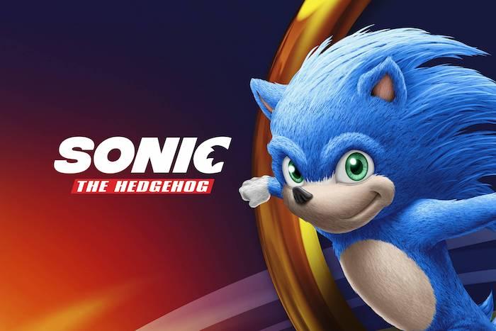 ein poster zu dem sega spiel sonic the hedgehog mit einem kleinen blauen igel mit grünen augen